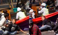 Bức ảnh cô Angel mặc áo phông đen trước khi thiệt mạng nhanh chóng được lan truyền rộng rãi trên mạng xã hội ở Myanmar ảnh: Reuters