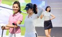 Dàn hoa hậu Việt nô nức 'nhập hội' chơi golf