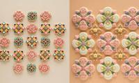 Nghệ nhân Nhật Bản làm bánh quy độc đáo lấy cảm hứng từ hoa văn nền gạch