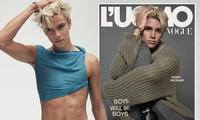 Quý tử thứ hai nhà Beckham lần đầu lên bìa tạp chí