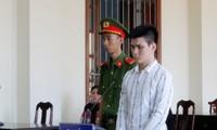 Bị cáo LInh tại phiên tòa.