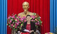 Chủ tịch Quốc hội Nguyễn Thị Kim Ngân làm việc với tỉnh An Giang về công tác bầu cử