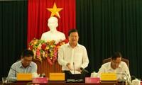 Phó Thủ tướng Trịnh Đình Dũng làm việc với lãnh đạo tỉnh Ninh Thuận ngày 17/10