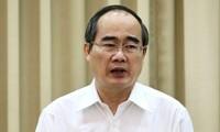 Bí thư Nguyễn Thiện Nhân - Ảnh: Trung tâm báo chí TP HCM.
