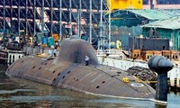Tàu ngầm chạy bằng năng lượng hạt nhân INS Arihant của Ấn Độ trong một cuộc thử nghiệm. Ảnh: Reuters