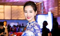 Hoa hậu Việt Nam 2012 - Đặng Thu Thảo - tại một sự kiện thời trang. Ảnh: Khoa Nguyễn