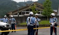 Cảnh sát tại trung tâm người khuyết tật Tsukui Yamayuri En, nơi vụ thảm sát xảy ra. Ảnh: AFP