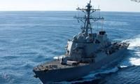 Tàu khu trục tên lửa dẫn đường USS John S. McCain. Ảnh: US Navy.