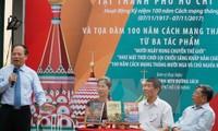 Phó Bí thư Thường trực Thành uỷ Thành phố Hồ Chí Minh Tất Thành Cang phát biểu trong chương trình toạ đàm về sách Nga. (Ảnh: Phương Vy/TTXVN)