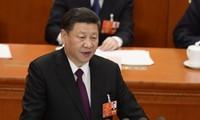 Chủ tịch Trung Quốc Tập Cận Bình phát biểu tại phiên bế mạc Kỳ họp thứ nhất Quốc hội Trung Quốc khóa XIII. (Nguồn: AFP/TTXVN)