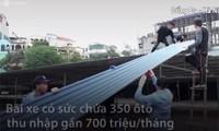 Tháo dỡ bãi xe 7.000 m2 không phép giữa trung tâm Hà Nội