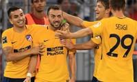 Bare (giữa) là một tài năng đầy triển vọng của Atletico. Ảnh: Marca
