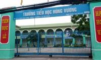 Trường tiểu học Hùng Vương nơi xảy ra lùm xùm 'ép' ký suất ăn cho học sinh.