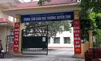 Trung tâm Giáo dục thường xuyên tỉnh Hòa Bình, nơi có đến 116 thí sinh là các chiến sĩ nghĩa vụ (chiếm hơn nửa tổng số đối tượng này của tỉnh Hòa Bình) dự thi THPT quốc gia 2018. Ảnh: Thanh Hùng.