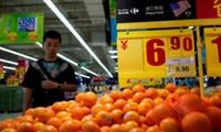 Cam nhập khẩu từ Mỹ bày bán trong một siêu thị ở Thượng Hải, Trung Quốc, tháng 4/2018 - Ảnh: Reuters.