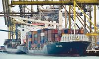 Tàu container tại cảng Keppel tại Singapore. Ảnh: Reuters
