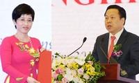 Hai lãnh đạo đầu tiên của Ủy ban quản lý vốn nhà nước.