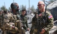 Lực lượng Mỹ tại tổng hành dinh của Các đơn vị bảo vệ Nhân dân người Kurd (YPG) sau khi bị Thổ Nhĩ Kỳ không kích vào 25/4/2017.