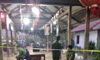 Công an Bình Thuận đang tiến hành khám nghiệm hiện trường