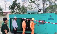 Công ty Điện lực Sóc Trăng bố trí máy phát điện dự phòng tại các cơ sở y tế và điểm cách ly.