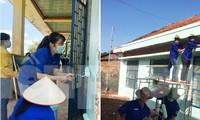 Áo xanh tình nguyện 'tiếp sức' vùng biên Bình Phước