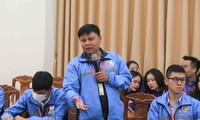 """Đại biểu tham dự Đại hội Tài năng trẻ Việt Nam lần thứ III năm 2020 tham luận tại Diễn đàn """"Bồi dưỡng, chăm lo và phát huy tài năng trẻ"""""""