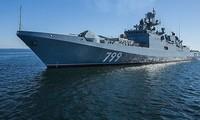 Tàu khu trục Đô đốc Makarov. Ảnh: AP