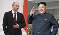 Tổng thống Nga Vladimir Putin và Chủ tịch Triều Tiên Kim Jong Un