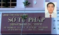 Triển khai quyết định kỷ luật Phó Giám đốc Sở Tư pháp Hậu Giang