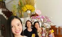 Hoa khôi Thúy Vi trang hoàng nhà rực rỡ đón xuân