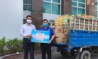 Tỉnh đoàn Bến Tre tặng nhu yếu phẩm cho khu cách ly tại ấp Thừa Lợi