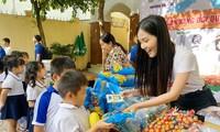 Hoa khôi Huỳnh Thúy Vi đồng hành với thiếu nhi bảo vệ môi trường