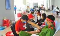 Hàng trăm bạn trẻ sôi nổi hiến máu tại trường ĐH An Giang