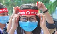 Tưng bừng Chủ nhật Đỏ tại trường đại học Trà Vinh