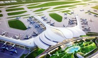 Mô hình dự án sân bay Long Thành Ảnh: P.V