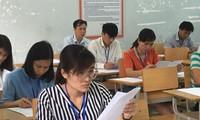 Chấm thi THPT 2019 tại Lai Châu Ảnh: Nghiêm Huê