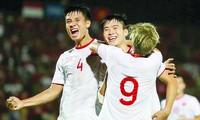 Truyền thông châu Á hết lời ca ngợi màn trình diễn của đội tuyển Việt Nam ảnh: TUẤN MINH