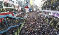 Người Hong Kong biểu tình chống luật mớiẢnh: SCMP