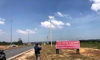 Dự án Happy Riverside ( Long An) do công ty Thiên Ân Phát làm chủ đầu tư đang là bãi đất trống