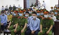 """Phiên tòa xét xử 29 bị cáo trong vụ án """"giết người và chống người thi hành công vụ"""" xảy ra ở xã Đồng Tâm, huyện Mỹ Đức, TP Hà Nội."""