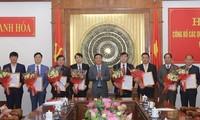 Thường trực Tỉnh uỷ Thanh Hoá công bố nhiều vị trí cán bộ mới