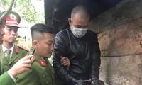 Đối tượng Hoàng Văn Công bị bắt giữ khi xuất hiện ở phường Quảng Thọ