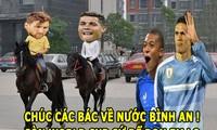 Cavani và Mbappe tiễn Ronaldo cùng Messi về nước.