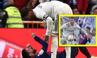 Messi rất bực tức với hành vi của Ramos.