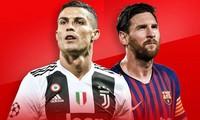 Ronaldo hơn Messi trong danh sách những VĐV nổi tiếng nhất năm 2019.