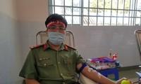 Thượng uý công an Đồng Tháp 9 lần tham gia hiến máu