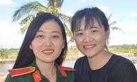 Ba bóng hồng cùng huyện ở Sóc Trăng tình nguyện nhập ngũ