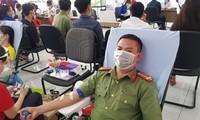 Trung uý công an 22 lần hiến máu