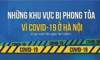 Những khu vực bị phong tỏa vì COVID-19 ở Hà Nội