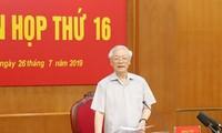 Tổng Bí thư, Chủ tịch nước Nguyễn Phú Trọng phát biểu tại phiên họp thứ 16 Ban chỉ đạo Trung ương về phòng, chống tham nhũng - Ảnh: TTXVN